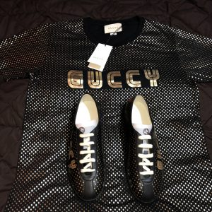 Gucci shoes gold stars