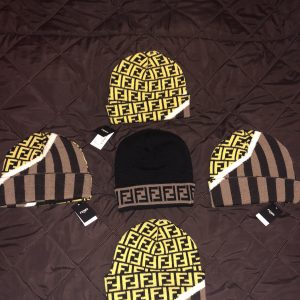 Fendi hat yellow