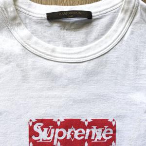 Lv x Supreme tees