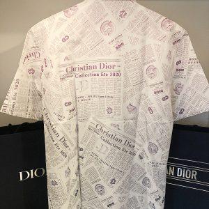 Chemise courte Dior x Arsham imprimé