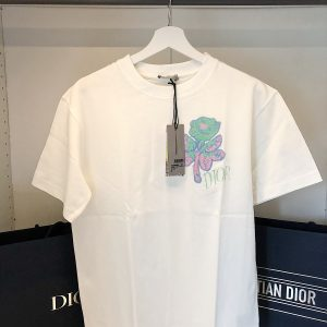 Tshirt Foxton x Dior rose embroidered